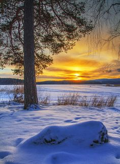 Sunrise at Nenäinniemi, Finland (by *m-eralp on deviantART)