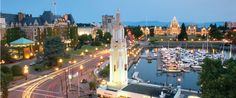 Victoria, BC.   Several ways to get here from Washington.   Worth staying a couple of days - much to see and do!