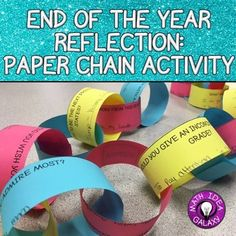 Wrap up the school year in style with a unique memento. This Paper Chain Activity for middle school students is a great way to have student think about their current self and their future self. Keep students engaged at the end of the year with a reflection fun activity. Topics include reflecting on this year, looking to the future, would you rather, things you like, and things you don't like.