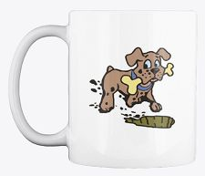 Discover Dog With A Bone Mug, a custom product made just for you by Teespring. - This dog with a bone coffee mug design is. Coffee Lovers, Dog Lovers, Coffee Mugs, Unique Image, Mug Designs, Dog Friends, Your Dog, Bones, Just For You