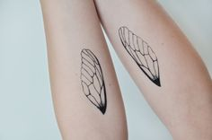Insect Wings Temporary Tattoo Tattoo Temporary by JoellesEmporium