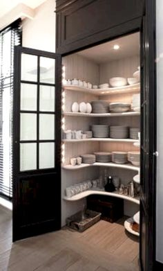Built in kitchen pantry design ideas 22