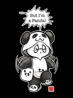 "post original: ""Panda Moda"": http: //www.pandaandpolarbear.com/2016/03/panda-fashion/ • Buy this artwork on apparel, stickers, phone cases y more."