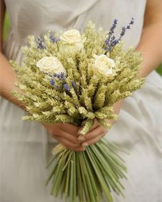 @curiouscountry posted to Instagram: Try bouquets of green beardless wheat or barley with some French Lavender and white roses for a unique and beautiful wedding or special occasion bouquet!   #weddinginspo #weddingreception #receptionideas #bohowedding #weddingideas #weddingdecor #weddingbouquet #bridetobe #bridalbouquet #weddingdecor #weddingseason #weddingparty #weddinginspiration #gettingmarried #weddingstyle #weddingflowers #weddingdetails #rusticwedding #floraldesign #flowerarrangement…