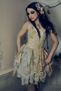 Steampunk fairy corset dress by Flutterbydaisy on Etsy, £188.00