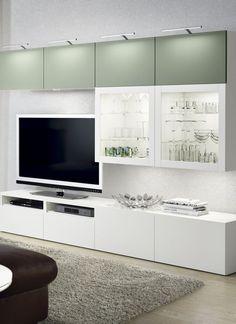 Composición blanco verde Besta Ikea