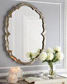 Centerpoint Scalloped Mirror