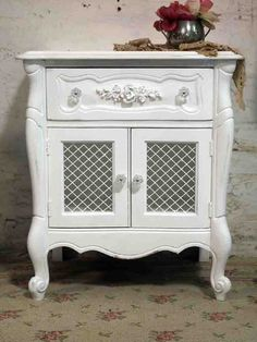 Painted Cottage Shabby White Romantic French by paintedcottages, $175.00