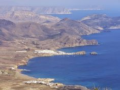 La Isleta del Moro from the summit of El Fraile (493m) - Hiking to the Top of the Cabo de Gata Natural Park