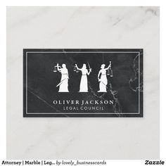 Attorney | Marble | Legal Justice Business Card Lawyer Business Card, Attorney At Law, Elegant Business Cards, Office Gifts, Dog Design, Funny Cute, Paper Texture, Marble, Nature
