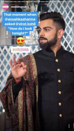 Virat kohli At his reception Virat Kohli And Anushka, Bollywood Couples, Latest Cricket News, Black Quotes, Funny Facts, Funny Jokes, Forever Love, Love Pictures, Loving U