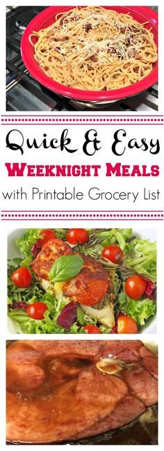 Quick & Easy Weeknight Meals - www.mommysnotperfect.com