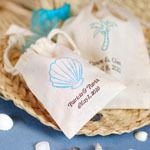 These personalized natural cotton wedding favor bags are a must. Each soft bag is made of eco-friendly unbleached cotton, evoking a simple, rustic charm. Destination Wedding Welcome Bag, Beach Wedding Centerpieces, Candy Wedding Favors, Wedding Welcome Bags, Beach Wedding Favors, Wedding Favor Bags, Unique Wedding Favors, Beach Weddings, Destination Weddings
