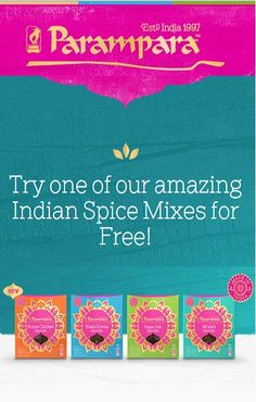 Get a #FREE Sample of Parampara Indian Spice Mix! #freebie #food
