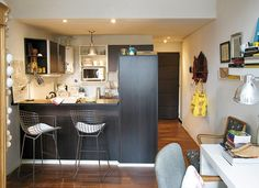 decoracion, casas, interiores, muebles
