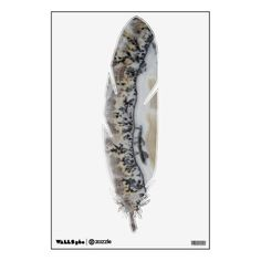 Dendritic Agate Feather Wall Sticker #walldecals #walldecor #wallgraphics #feathers #agates #rocks