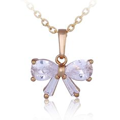 45cm Fashion 18K Gold Plated Copper Necklace Bowknot Shape Pendant Inlaid Zircon for Women http://www.eozy.com/45cm-fashion-18k-gold-plated-copper-necklace-bowknot-shape-pendant-inlaid-zircon-for-women