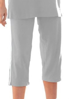 huge selection of 7a61b 5165c Woman Within Plus Size Capri With Active Side Stripe (Heather Grey,2X)  Woman Within.  14.99