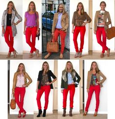 I just got a pair of red skinny pants! Ahhh so excited!