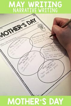 MAY WRITING- Narrative writing- Mother's Day!