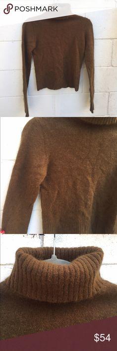 Zara Brown Turtleneck Pullover Cropped Sweater Adorable brown fuzzy cropped Turtleneck sweater by Zara. Worn once or twice but in great condition! Size Medium. Zara Sweaters Cowl & Turtlenecks