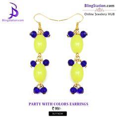 Give your outfit a burst of neon with these #earrings and get the quirky side on! #BlingStation #fashion #jewellery