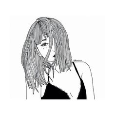 Un We Heart It ❤ liked on Polyvore featuring fillers, drawings, + drawings, art, doodle fillers and outline