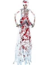 Hanging Bloody Butcher Skeleton - Party City