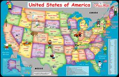 Usa Map For Map Of United States America - besttabletfor. States In Usa, United States Map, States In America, Usa Wallpaper, Widescreen Wallpaper, Maps For Kids, Wall Maps, Wall Mural, Us Map