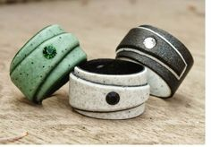 Would you love to try making some polymer rings? Then try your hand at this…