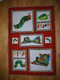 Inspiration. Picture only. No patternHungry caterpillar quilt