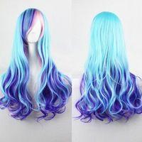 2015 New Arrival nova Anime Cosplay cabelo Pad mulheres Harajuku Lolita Cosplay peruca sintética longo ondulado perucas de cabelo Ombre grátis frete
