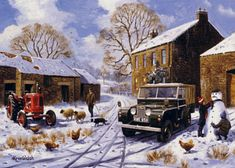 Land Rover series christmas