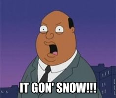 Gon' is an incorrect use of an apostrophe.  It should be it's instead of it  Grammar Win! It's going to snow!!!