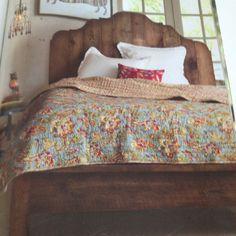 Antique pine provence bed from sundancecatalog.com
