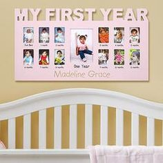 Baby's First 12 Months Frame A great gift for newborns, our frame holds 13 photos to show how cute babies grow even cuter. Send Birthday Gifts, Birthday Presents For Girls, Birthday Photos, Birthday Ideas, Baby Photo Frames, Baby Frame, Girl First Birthday, Baby Birthday, Baby Monat Für Monat