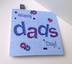 Father's Day Greeting Card,Printed Applique Design,Hand Finished Card. £1.95