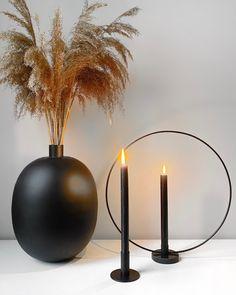 Kandelaren – HOUSEWOLF Interior Inspiration, Room Inspiration, Living Room Decor, Bedroom Decor, Deco Design, Home Decor Accessories, Black Metal, Candle Holders, Candles