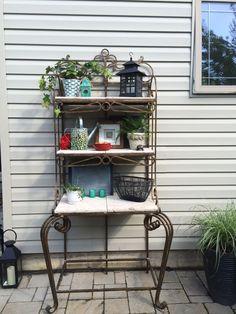 patio shelves ideas outdoor gardens