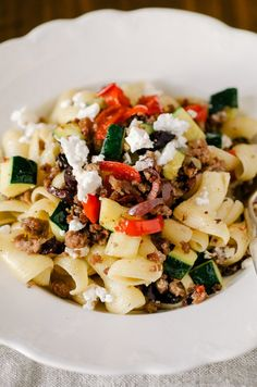 Quick Dinner Recipe: Greek Pasta with Lamb, Zucchini, and Feta — Recipes from The Kitchn