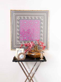 Framed vintage scarf from Hilari Younger (HGTV Design Star) Hgtv Design Star, Home Wall Art, Decor, Inspiration, Contemporary Wall Art, Wall Art Diy Easy, Diy Wall, Home Decor, Cool Curtains