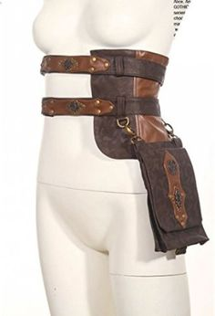 Steampunk Cosplay Steam Punk Clothing Leather Utility Belt Girls Messenger Bags for sale online Steampunk Accessories, Steampunk Clothing, Leather Accessories, Costume Accessories, Renaissance Clothing, Diy Accessories, Moda Steampunk, Style Steampunk, Steampunk Fashion