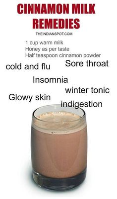 The combination of cinnamon and milk can serve as a medicine for numerous diseases and it can help you to relax and get better sleep. Cinnamon milk not only has