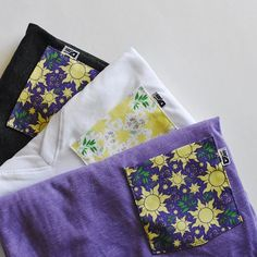 You didn't think we'd pass up the opportunity to make a coordinating Tangled pocket, did you?! 🌼 Shop opens tomorrow 2/16 at 8PM EST 🎉 As a reminder - all tees are made to order and have a two week turn around time. If you have any shipping questions, please feel free to shoot us an email 💌