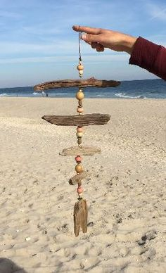 Pale DRIFTWOOD Mobile Windchime made with by MermaidsMasterpiece