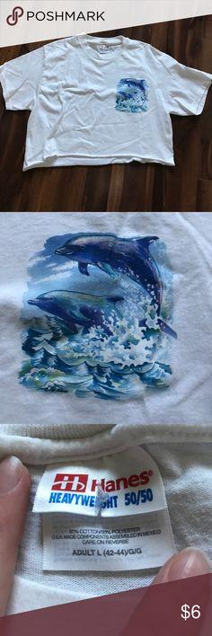 Dolphin crop top Large dolphin crop top Tops Crop Tops
