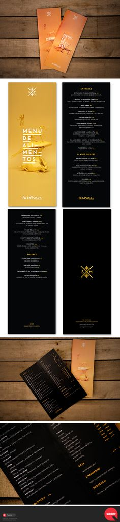 Sr. Mostaza's menu concept—based on surrealist art from the beginning of the twentieth century, employs photos of painted-safron-yellow objects on a safron-yellow background. Mostaza is mustard in Spanish, to compliment the avant-garde Mexican fusion flavor combinations in the dishes.