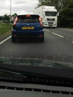 Followed this car home one day and had to share his personalised number plates... LOL — in Chatteris, UK.