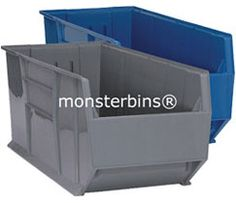 """42"""" Stacking Bins.  These storage bins are often referred to as rack bins.  They are available in either Blue or Gray."""