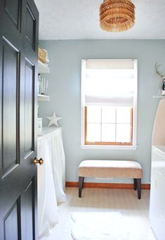 House Crashing: Where Soft Meets Bold | Young House Love..how to work with wood trim